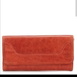 ** REDUCE PRICE ** Red leather Frye wallet - nwt